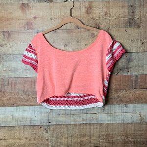 Free People Pink Knit Crop top